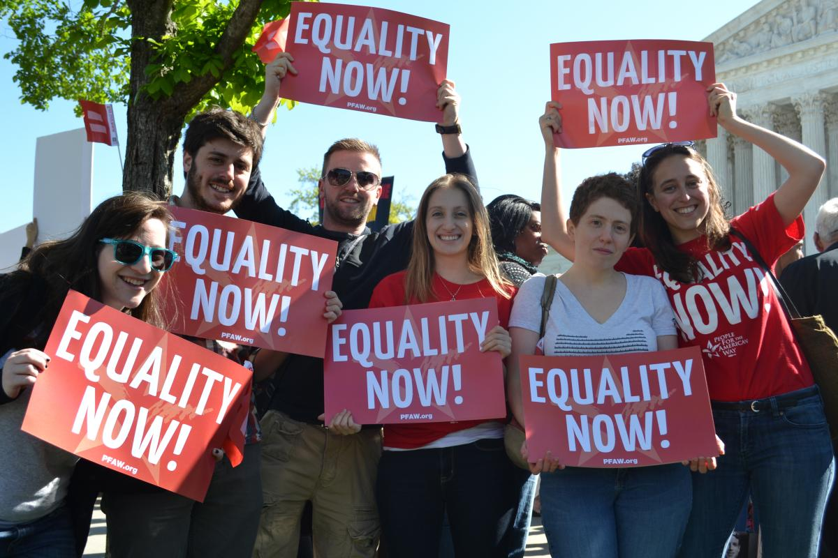 PFAW Foundation Rallies at the Supreme Court for Marriage Equality, Group 1
