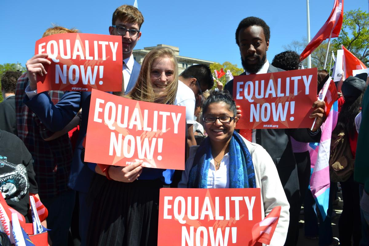 PFAW Foundation Rallies at the Supreme Court for Marriage Equality, Group 2