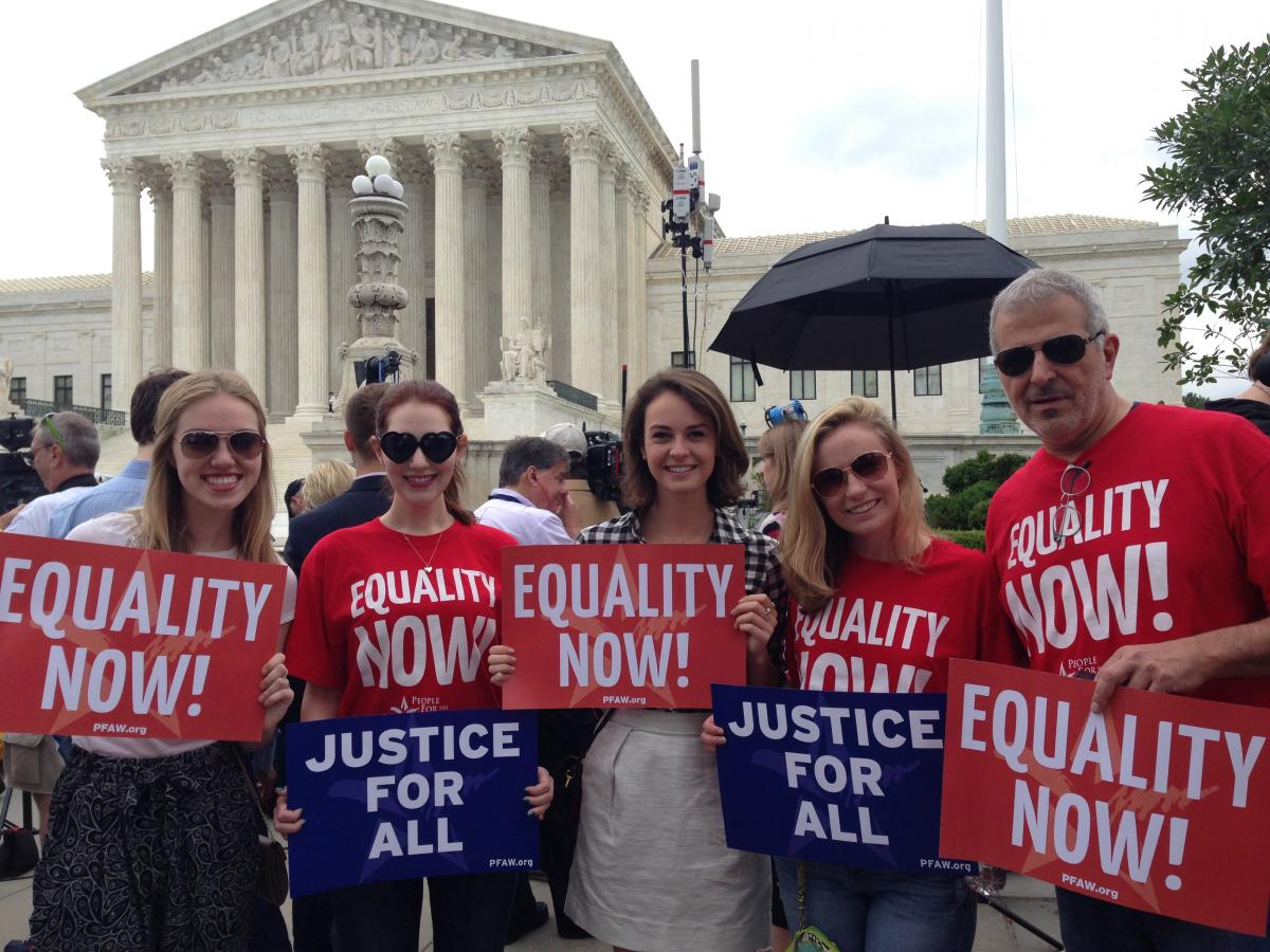 People For the American Way Foundation at the Supreme Court for Love Wins
