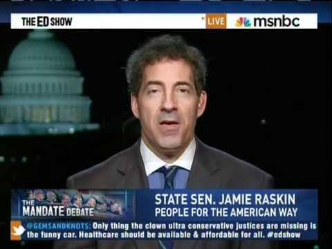 PFAW's Jamie Raskin Discusses Health Care Arguments on MSNBC